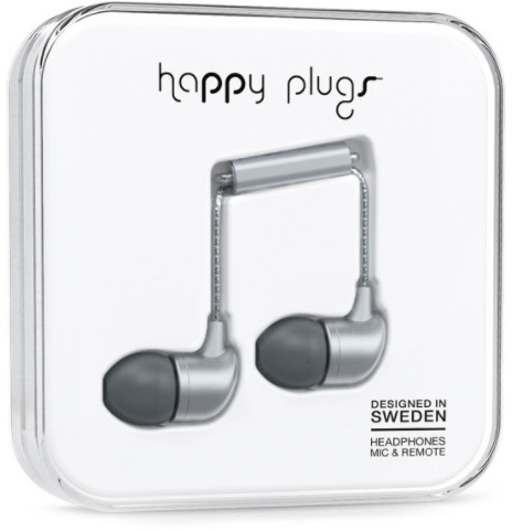 Happy Plugs In-Ear - grå