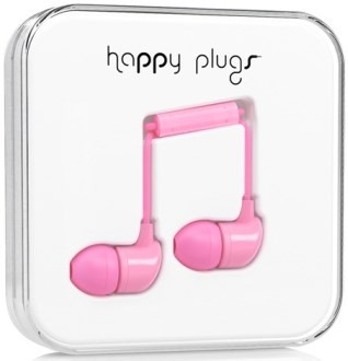 Happy Plugs In-Ear - ljusrosa