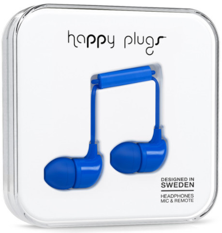 Happy Plugs In-Ear - mörkblå