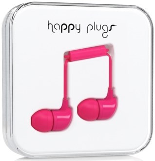 Happy Plugs In-Ear - mörkrosa