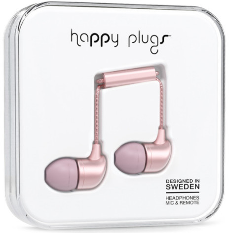 Happy Plugs In-Ear - rosa guld