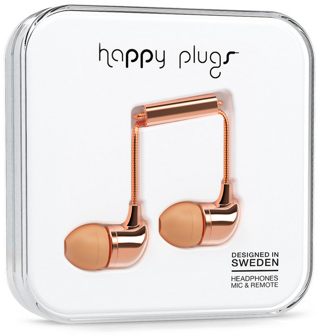 Happy Plugs In-Ear - roséguld