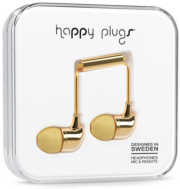 Happy Plugs In-Ear - guld